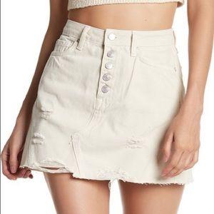 NWT Free People Destroyed Denim Mini Skirt Size 31